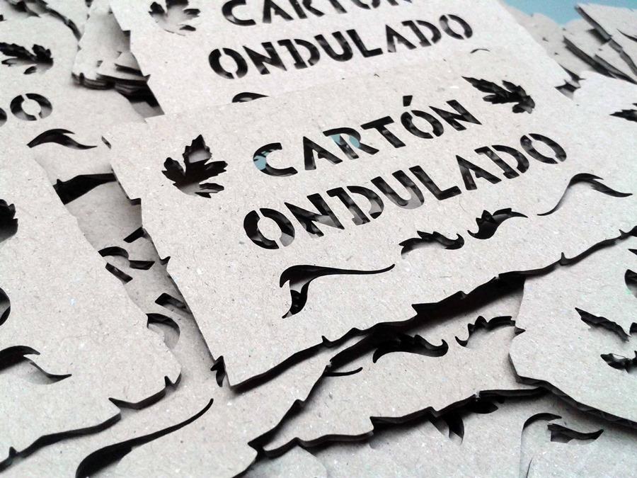 Cartón ondulado por láser