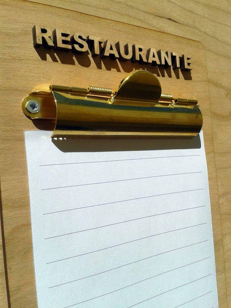 Cartas de restaurantes originales