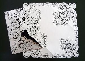 Corte de encaje en papel