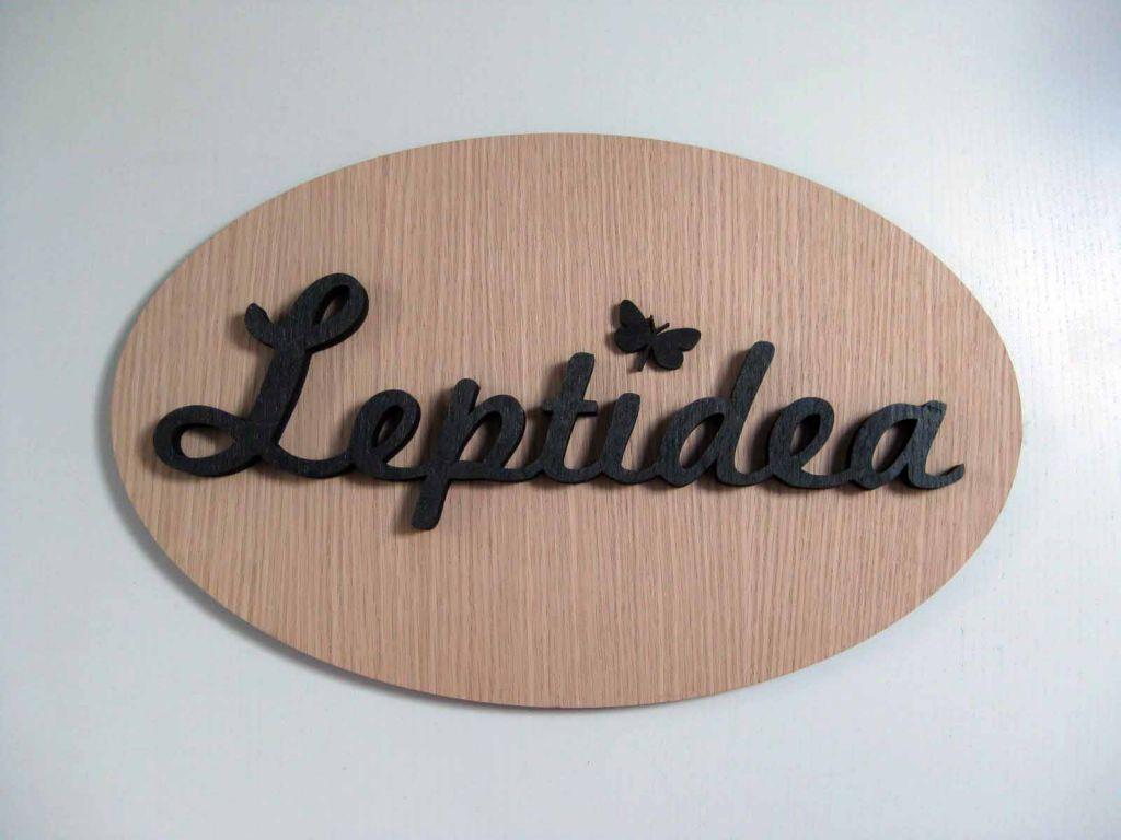 Corte láser cartel Leptidea