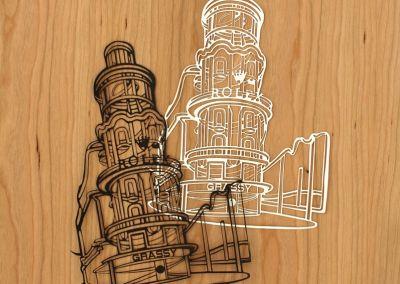 Corte láser de filigranas en papel
