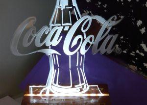 Grabado Coca Cola metacrilato