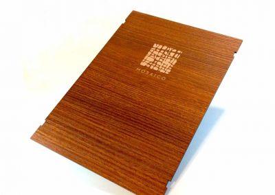 Grabado láser de carta restaurante Mosaico