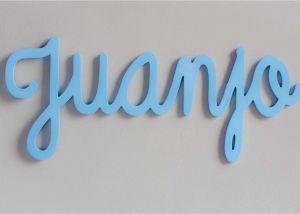 Letras decorativas en madera