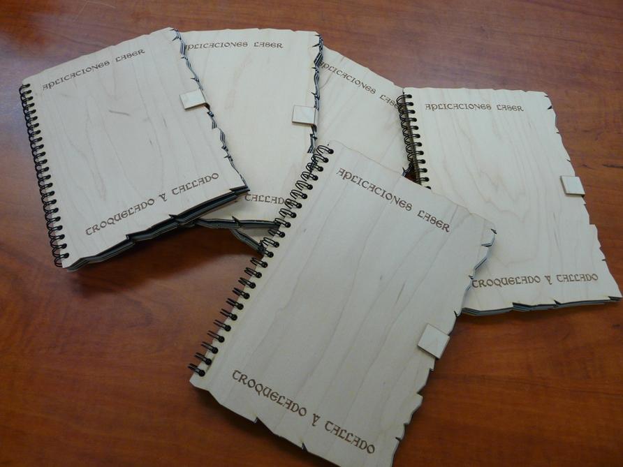 Libros en chapa de madera