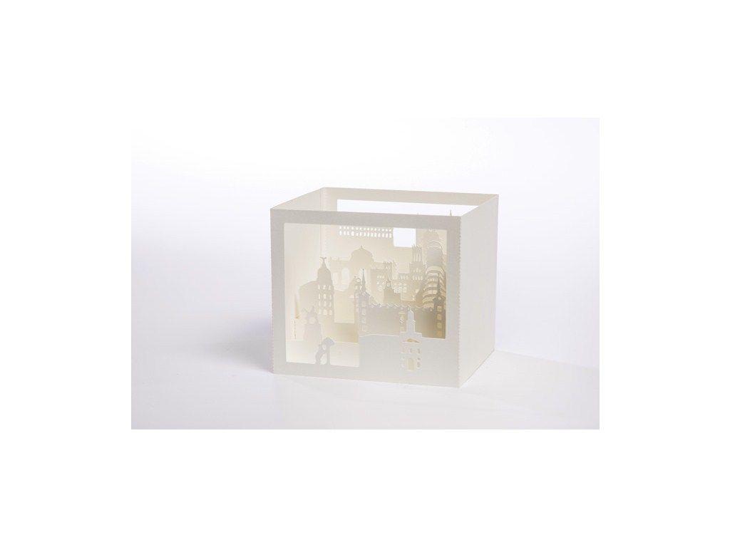 Caja Madrid troquelada con láser