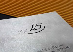 Carta menú Hotel Melia