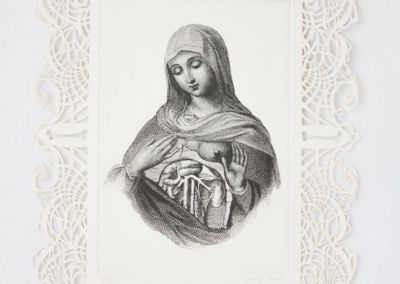 Celosia virgen grabado láser