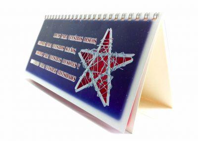 Corte láser christmas calendario