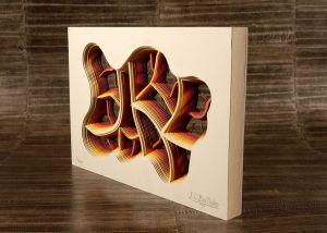 Cuadro con capas de papel
