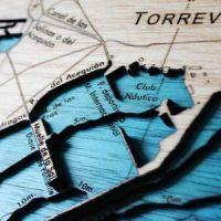 Mapas cortados con láser