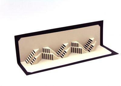 Origami cortado con láser