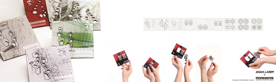 Pendientes de papel corte láser