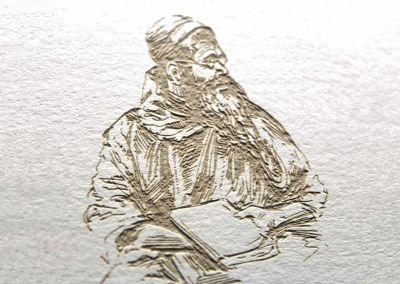 Tallado de papel realizado con láser