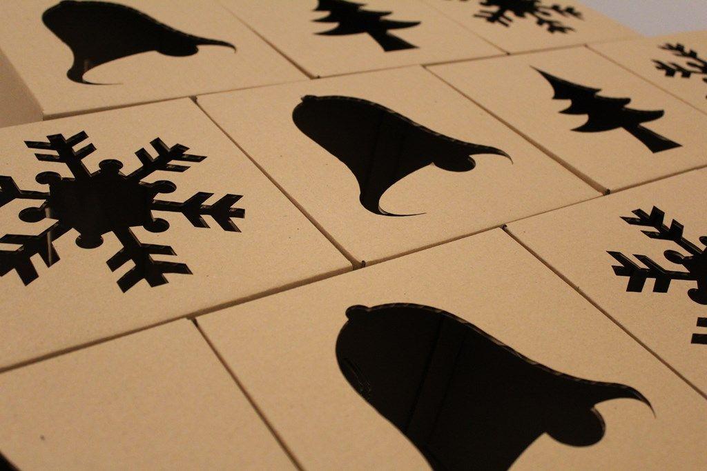 Troquelado láser de cartón ondulado