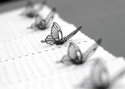 Troquelado láser mariposas