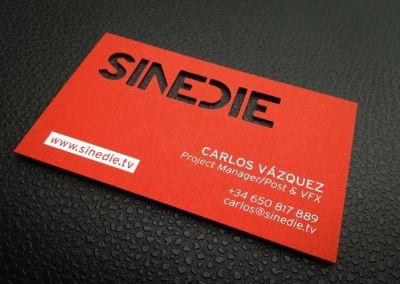 Troquelado láser tarjeta sinedie