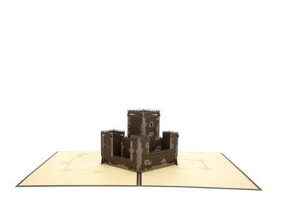 16 Troquelado láser pop-up 3D castillo